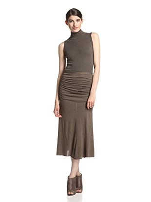 Rick Owens Lilies Women's Ruched Skirt (Dna Dust)