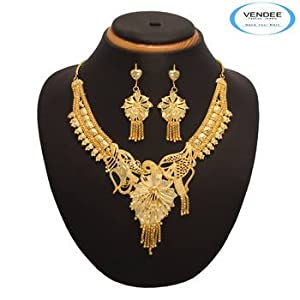 Vendee Fashion 1 gm Gold Plated Necklace Set (7170)