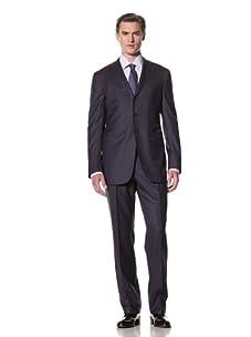 Domenico Vacca Men's Suit (Blue/Brown)