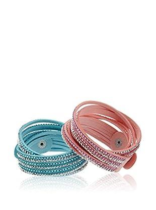 Inori Armband-Set  pink/türkis