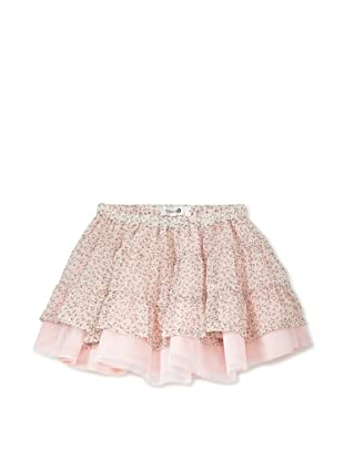 TroiZenfants Girl's Tiered Skirt (Pink Floral)