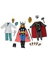 Diamond Select Toys Marvel Retro Thor Limited Edition Action Figure Gift Set