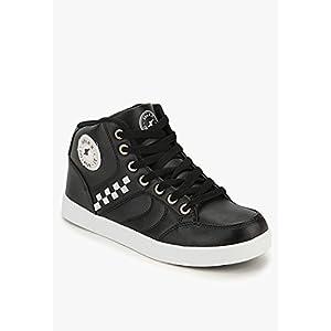 Sparx Black Sneakers