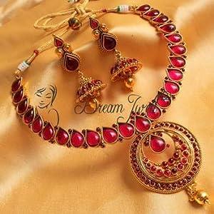 Gorgeous antique kemp bridal necklace set