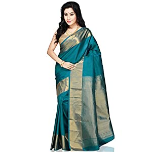 Utsav Fashion Saree with Blouse - Dark Aqua