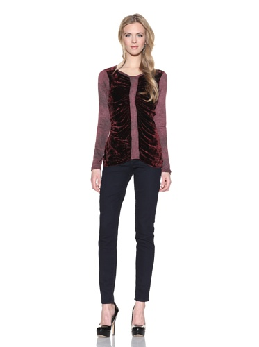 Nola Z Women's Ruched Front Top (Ruby)