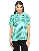 Polka Dot Polo Shirt - Green