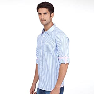 Yepme Blue Full Sleeves Cotton Men - Casual Shirts