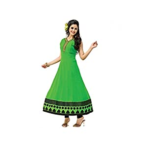 Lovely Stitched Green Solid Georgette Kurti