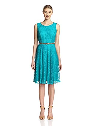Sharagano Women's Lace Fit and Flare Dress