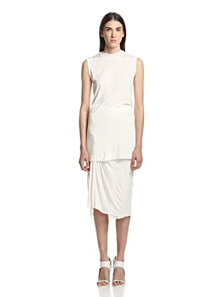 Rick Owens Lilies Women's Top Scollo Sleeveless Top (Milk)