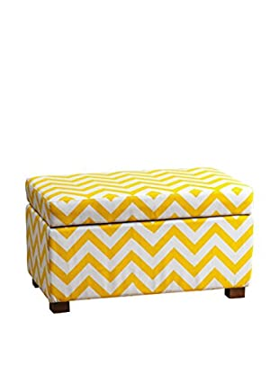 Abbyson Living Miley Small Storage Ottoman, Yellow