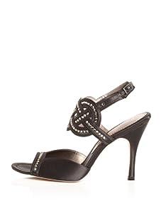 Bourne Women's Tiffany Ankle Strap Sandal (Black)
