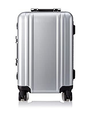 ZERO Halliburton Classic Polycarbonate Carry On 4-Wheel Spinner Travel Case, Silver