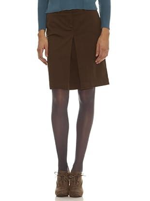 Trussardi Falda Pliegue Delantero (marrón)