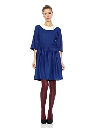 Trakabarraka Vestido Cuello Redondo Gulielma (Azul Eléctrico)