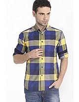 Checked Yellow Casual Shirt Mark Taylor