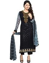Shree Women Georgette Anarkali Suit (Jump-2052 _Black _Xx-Large)
