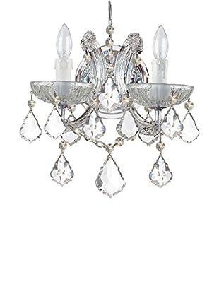 Gold Coast Lighting Maria Theresa 2-Light Clear Crystal Chrome Sconce, Polished Chrome