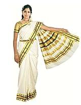 Atex Cotton Zari Saree (5145 _Ivory)