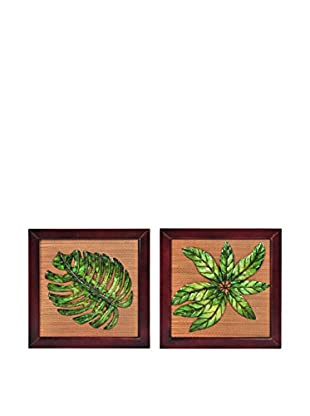 Bombay Company Set of 2 Tropical Star Leaf Panels