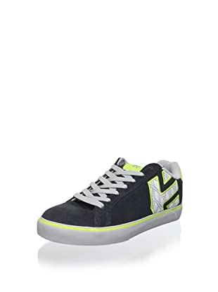 Etnies Women's Fader Vulcanized Low Top Sneaker (Grey/Green)