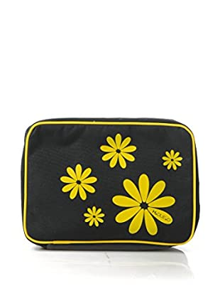 H.Due.O Necessaire Hippy Flowers Giallo