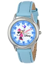 Disney Kids W000040 Minnie Mouse Stainless Steel Time Teacher Watch