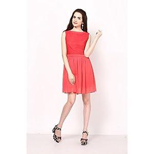 Maroon Basic Dress With Dual Pockets