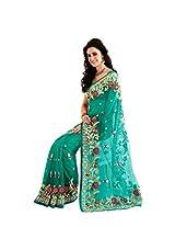 Exclusive Net, Raw Silk Wedding wear De Marca 4335 Saree