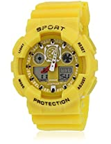 Fs207-Yl01 Yellow/Yellow Analog & Digital Watch