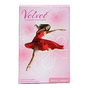 Velvet Condoms for Women Unflavored 3 piece(s)/pack
