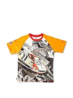 Arena Camiseta Camerun (Blanco / Naranja / Negro)