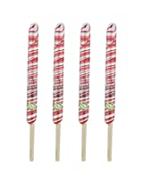 Kandee Springs Classic Strawberry (Pack of 4 Natural Colour Candy wrapped on bamboo sticks)