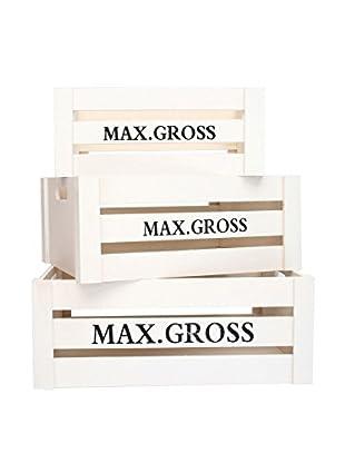 LO+DEMODA Aufbewahrungsbox 3er Set Max. Gross