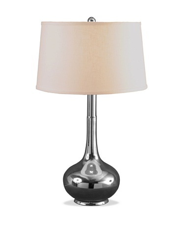 Lighting Enterprises Metal Jar Table Lamp (Polished Nickel)