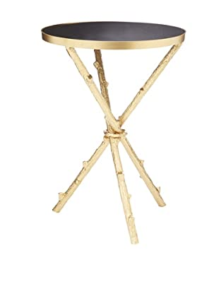 Nature Metal End Table, Black/Gold