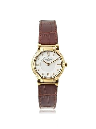 Jacques Lemans Women's GU227F Gloria Brown/Silver Genuine Leather Watch