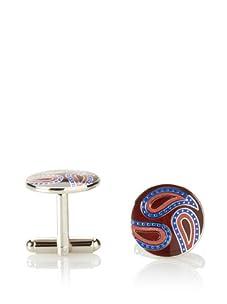 Joseph Abboud Men's Paisley Cufflinks (Silver)