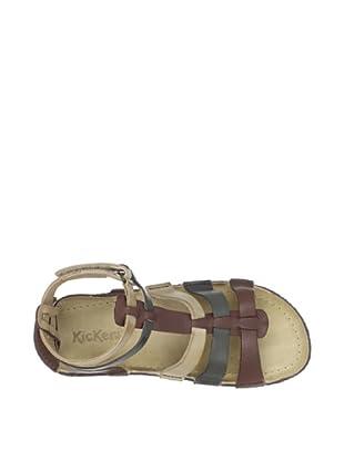 Kickers Kid's Peplum V3 Sandal (Brown Multi)