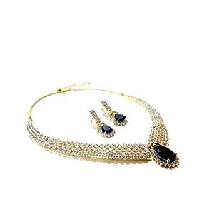 Daamak Jewellery Blue Sapphire Necklace Set
