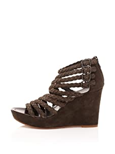 Sigerson Morrison Women's Braided Multi-Strap Wedge (Brown)
