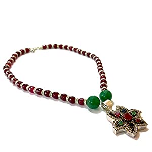 Daamak Jewellery Star Shape Pendant With Red String