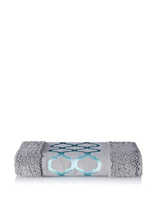 Anali Tangier Hand Towel, Turquoise/Grey