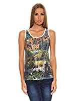 Sándalo Camiseta Monet (Multicolor / Blanco)