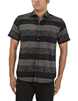 King Richard Men's Casual Shirt (AVB47_44, Black, 44)
