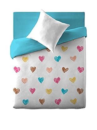 Naturals  Bettdecke und Kissenbezug Coeurs