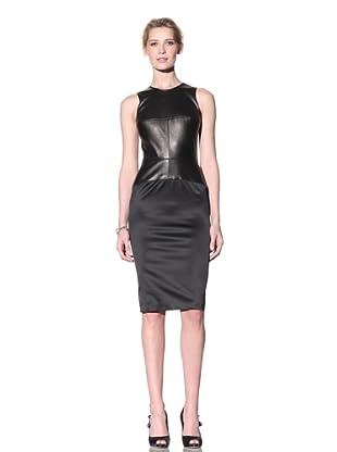Doo.Ri Women's Seamed Dress with Leather (Black)