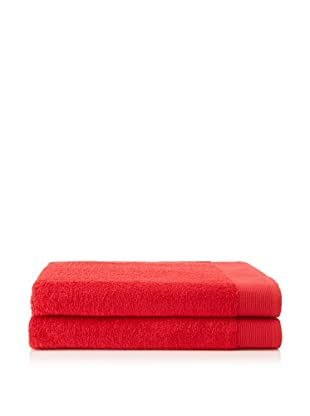 Schlossberg Sensitive 2 Piece Bath Sheet Set, Strawberry