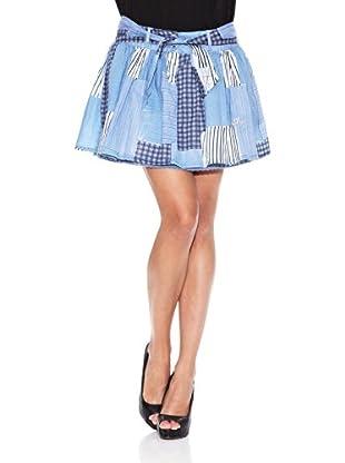 Desigual Falda Bailarina (Azul Denim)